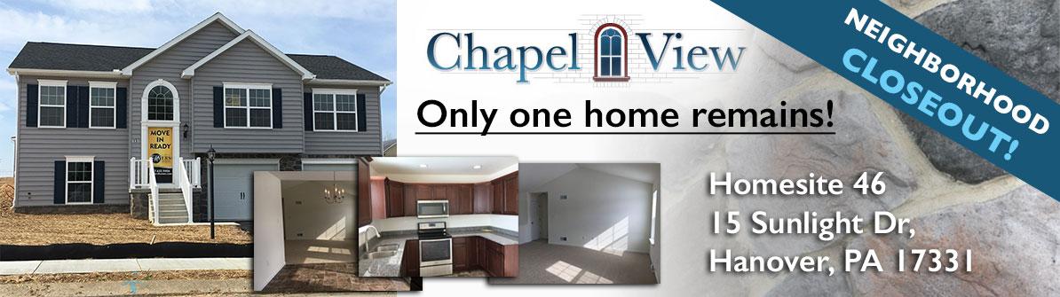 Chapel View Web Banner - Closeout