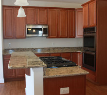 J.A. Myers Homes Kitchen Island Upgrade