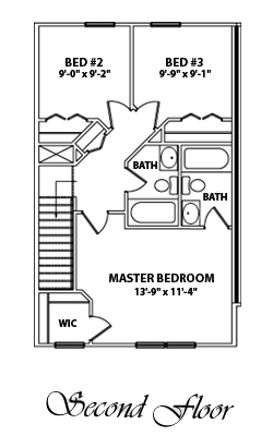 Woodland Town Homes 2nd Floor Plan
