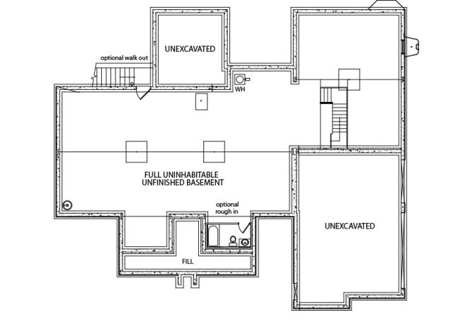 Kaden j a myers homes for Garage foundation plans