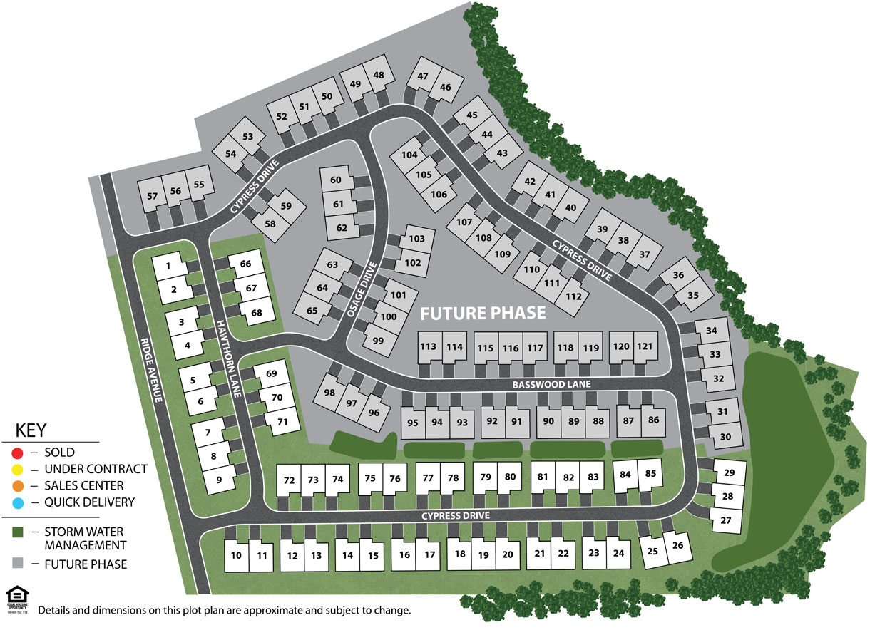 Cherry Tree Villas Site Plan