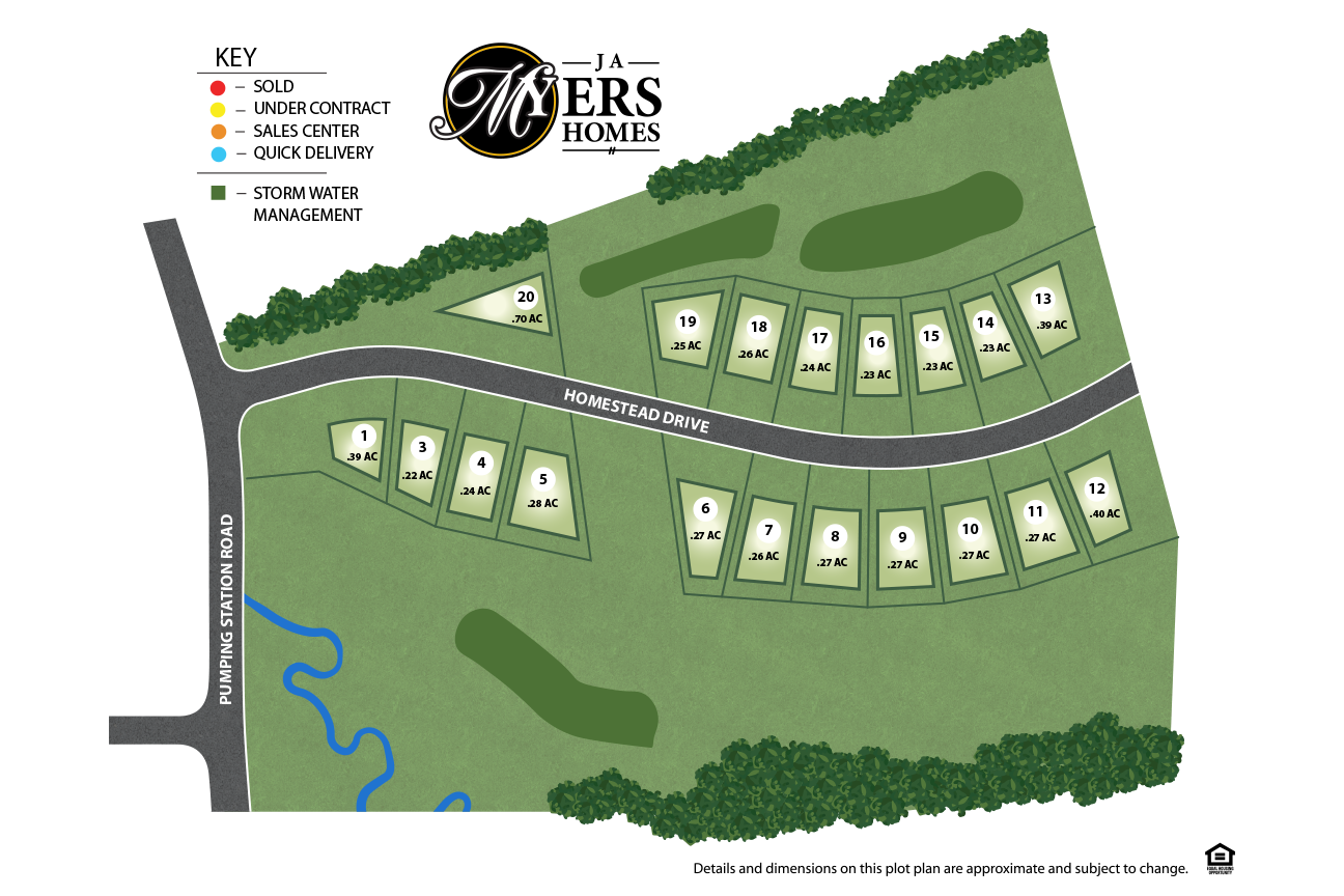 Harpers Hill Site Plan for J.A. Myers Homes in Hanover, PA