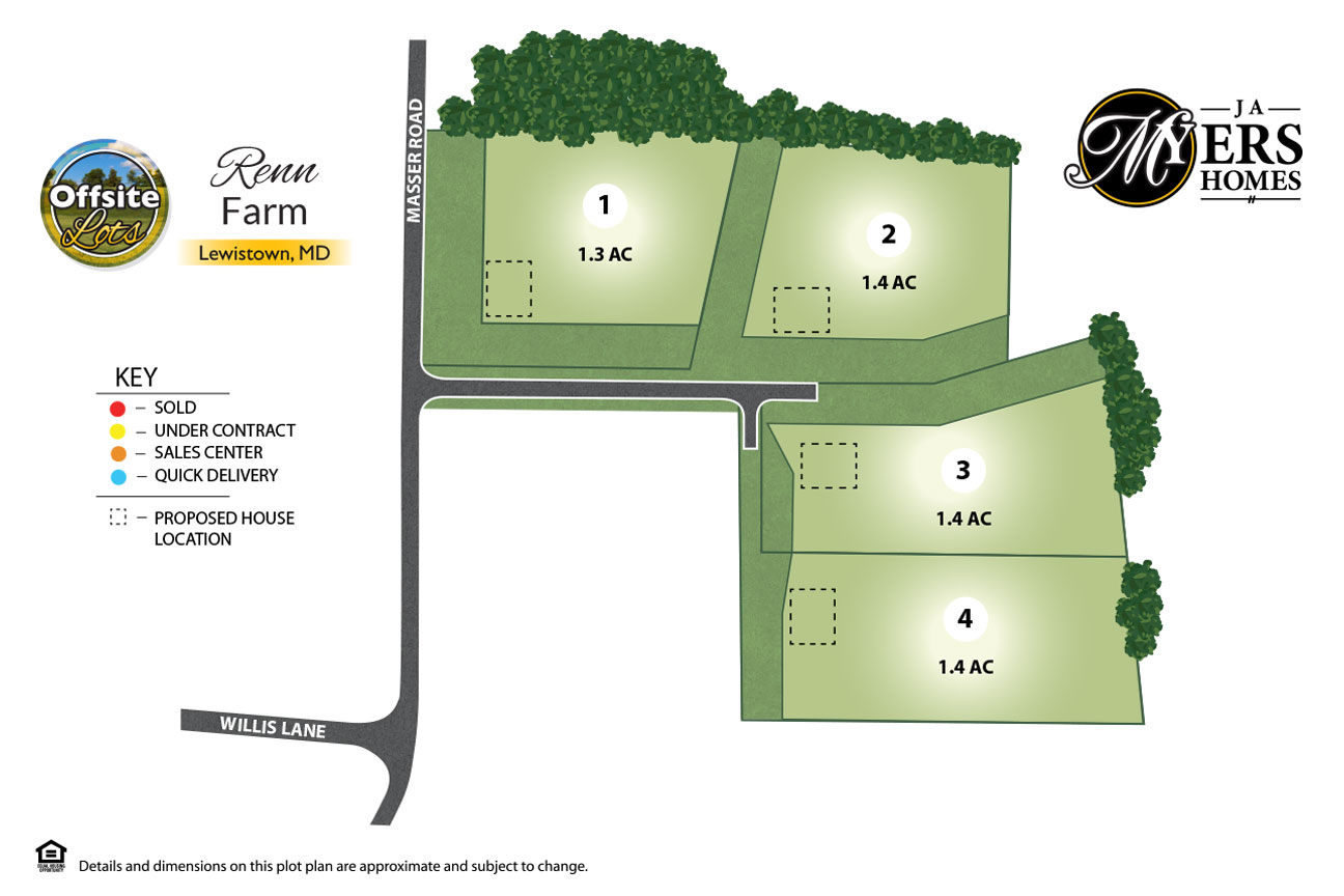 Renn Farm offsite lots in Frederick Maryland by J.A. Myers Homes