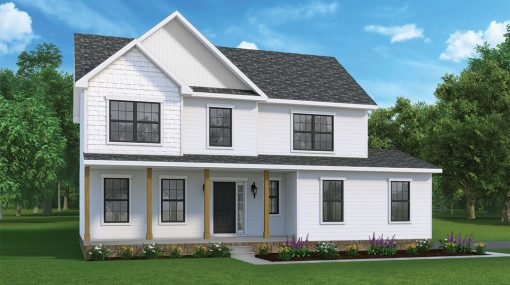 Concord Model and floorplan by J.A. Myers Homes in Hanover, PA