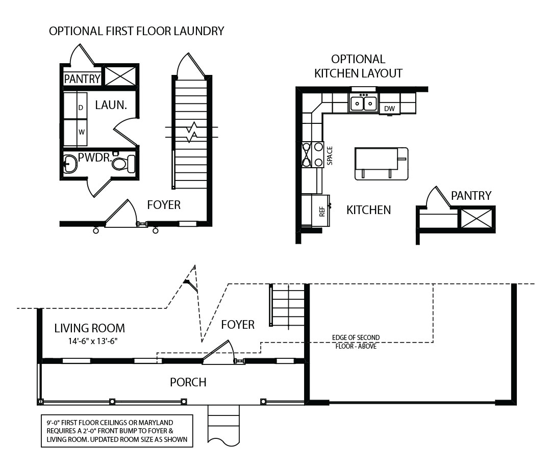 Concord Model Floor Plan Options by J.A. Myers Homes