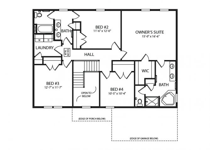Hampton Model Home and Floorplan by J.A. Myers Custom Home Builder in Hanover, PA