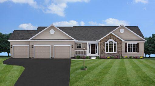 One Story Bartlett Model Home