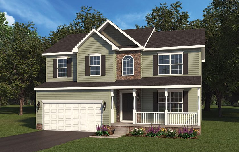 Aubrey Model Home Option 1 Built By J.A. Myers Homes