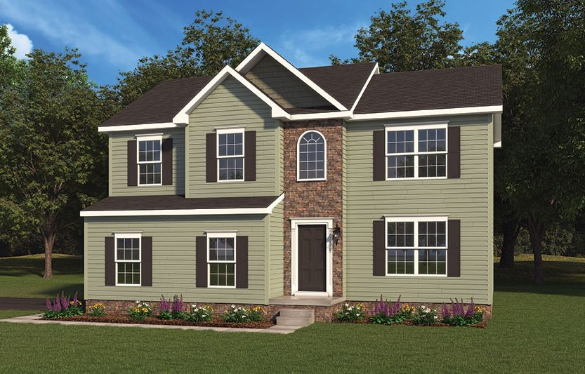 Aubrey Model Home Option 2 Built By J.A. Myers Homes