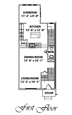 JA Myers Homes - Presidential Town Homes 1st Floor