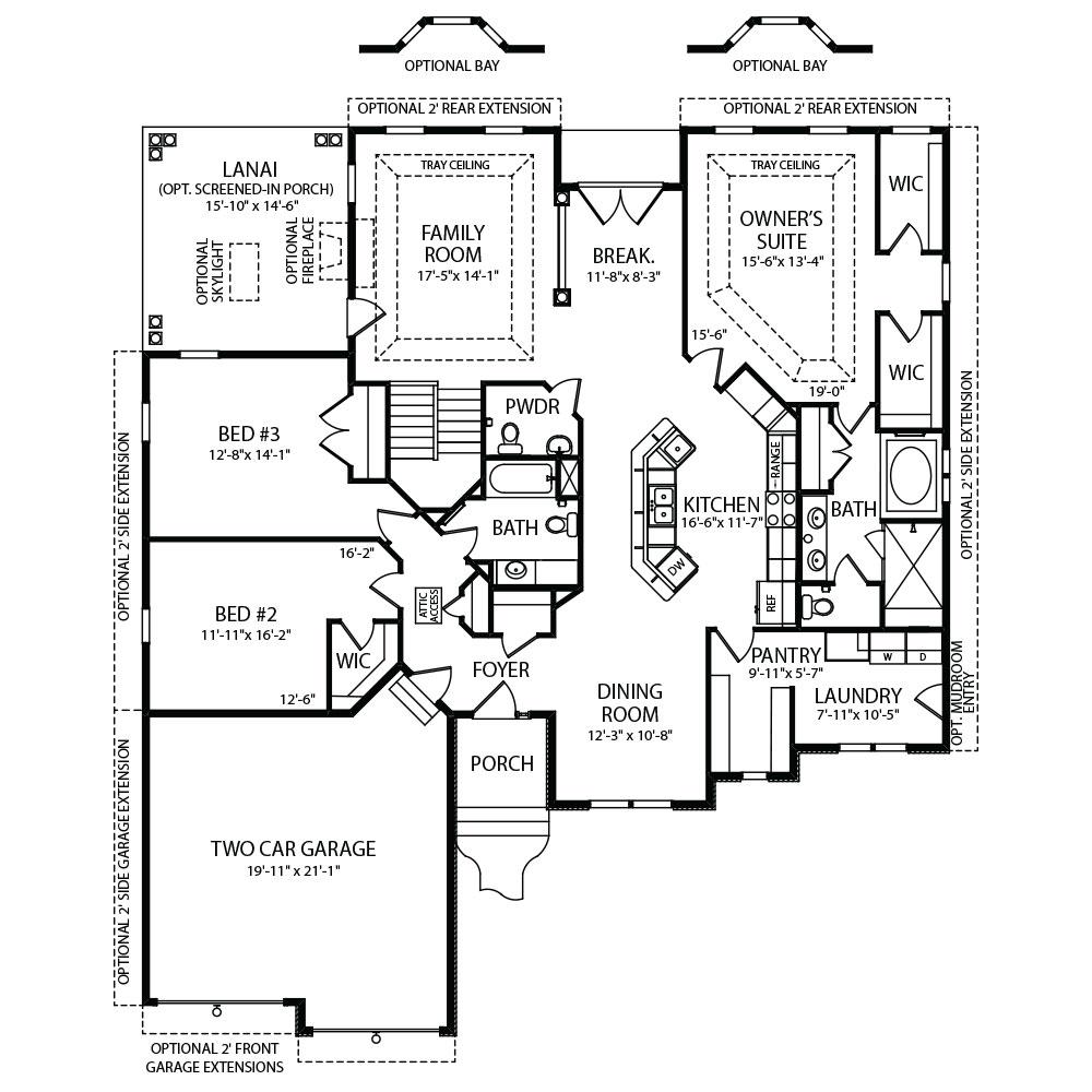 Corinne First Floor Plans