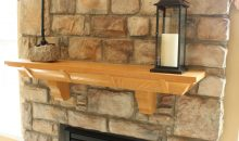 Awesome J.A. Myers Homes Stone Fireplace