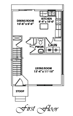 Woodland Town Homes 1st Floor Plan