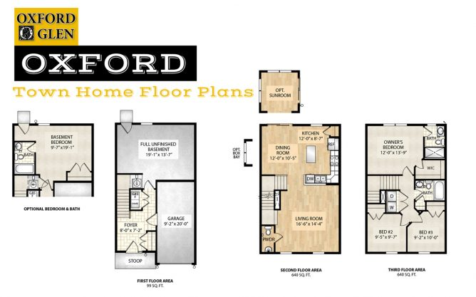 Oxford Town Home Floor Plans