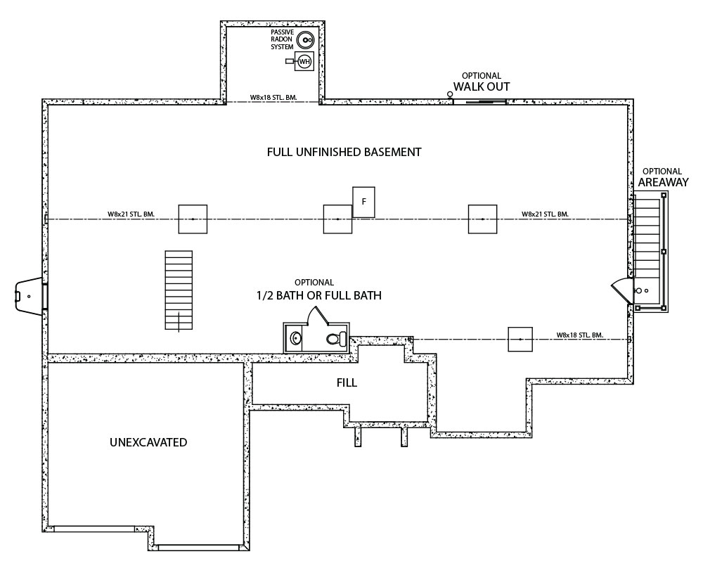 Natalie Model home floorplan design by J.A. Myers Homes in Hanover, PA