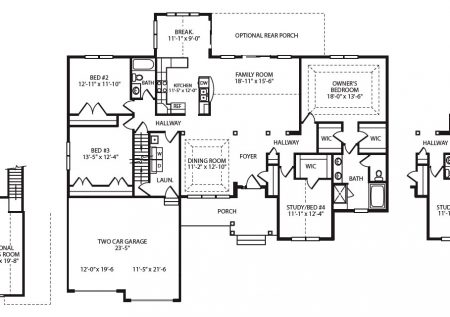 Natalie Model Home Floor Plan Built by J.A. Myers Homes