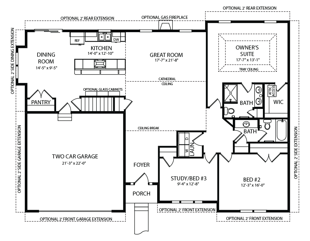 Melissa Model Floor Plans by J.A. Myers Homes
