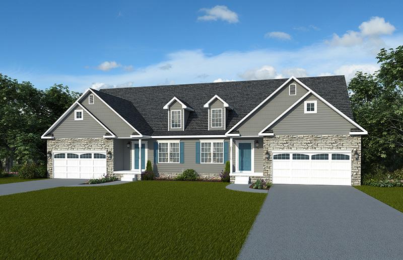 Addison Duplex Optional Elevation - J.A. Myers Homes