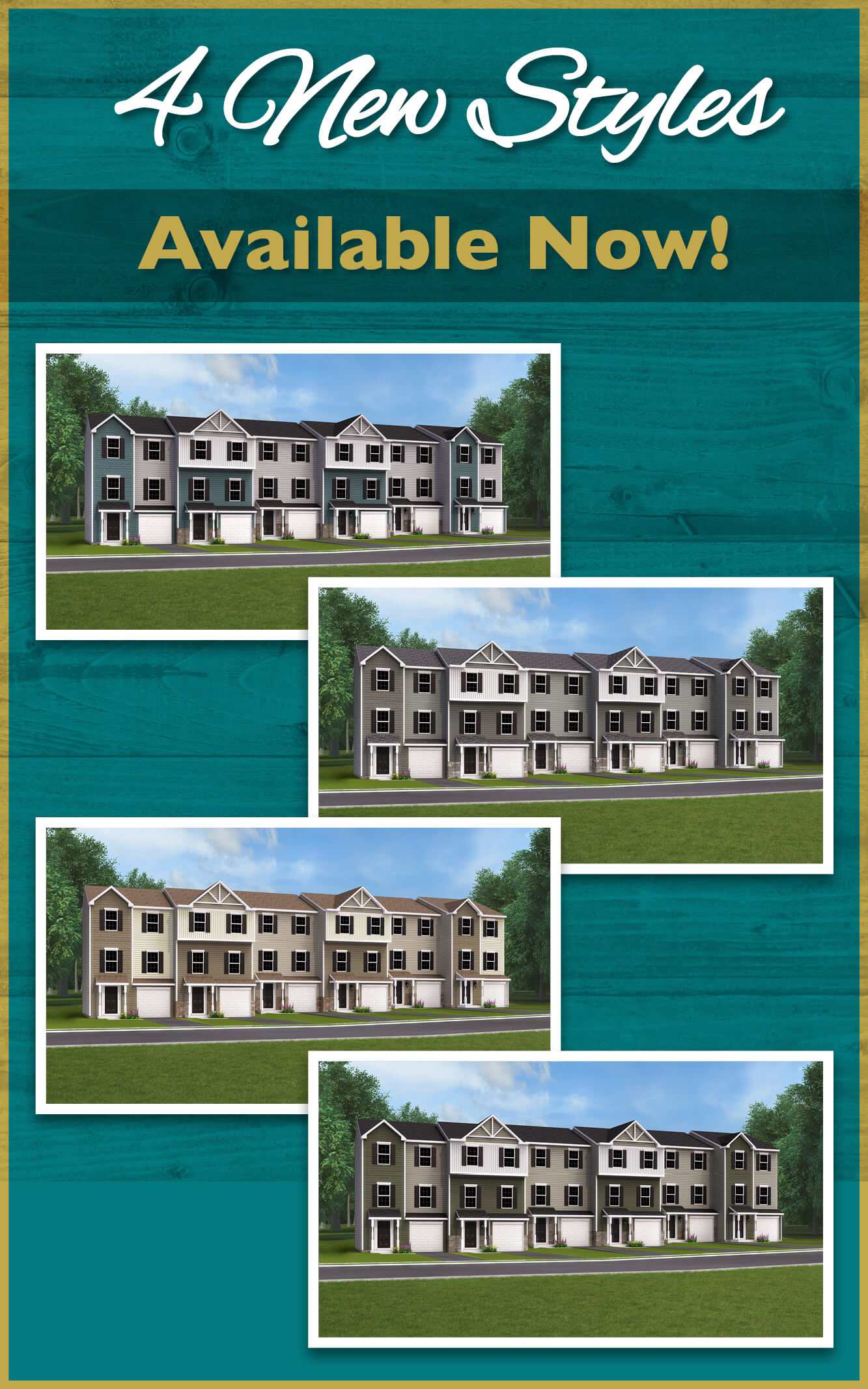 New Townhome Styles avaialbe now at in Hanover, PA at Homestead Acres