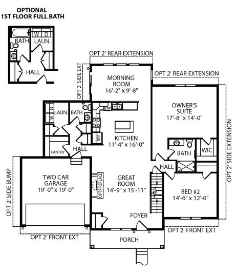 Abby First Floor Plan J.A. Myers Homes