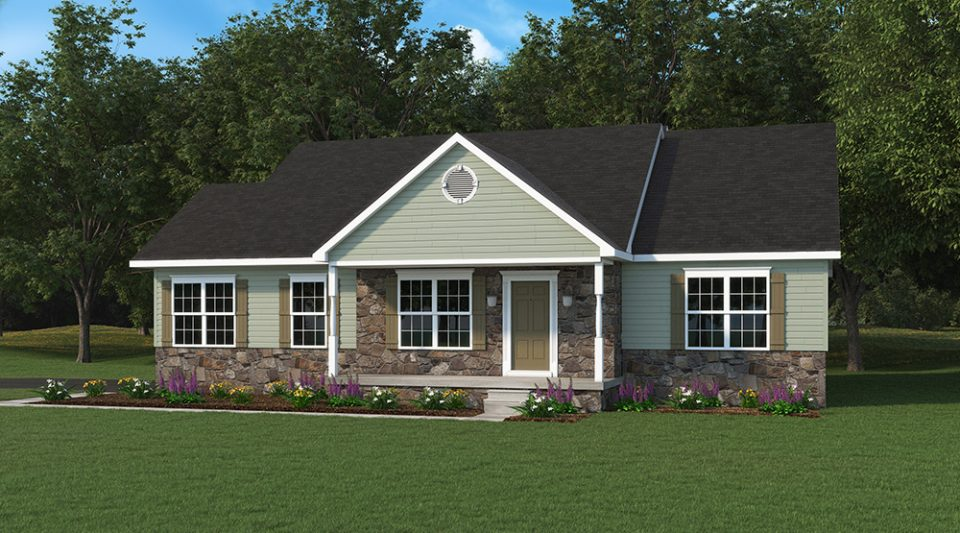Abby One Story Model Home Built By J.A. Myers Homes - Option 1 Elevation