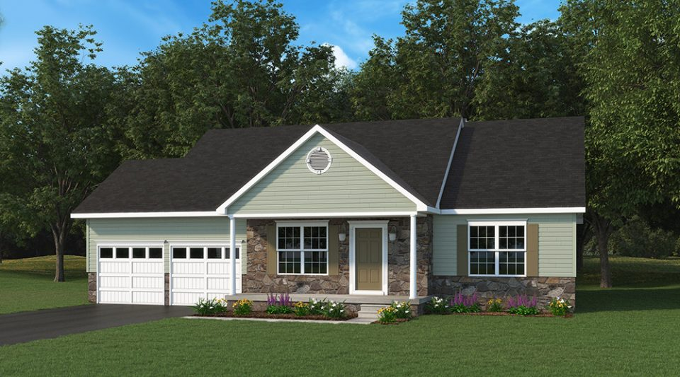 Abby One Story Model Home Built By J.A. Myers Homes - Option 2 Elevation