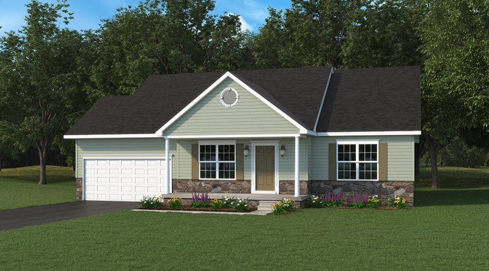 Abby One Story Model Home Built By J.A. Myers Homes - Standard Elevation