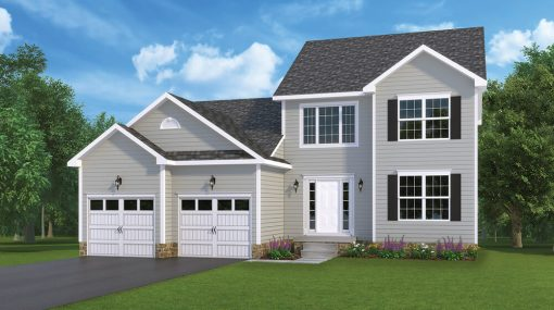 Berkley Standard Model with alternate garage doors home by J.A. Myers Homes in Hanover, PA