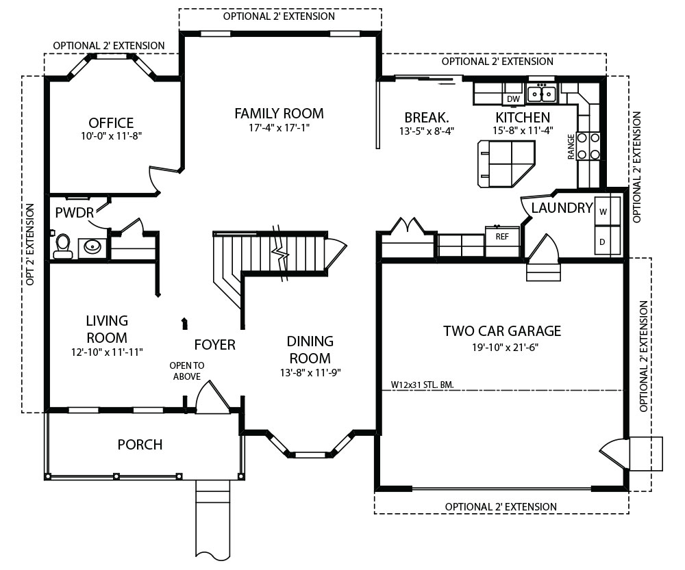 Monterey Model Floorplans by J.A. Myers Homes in Hanover, PA