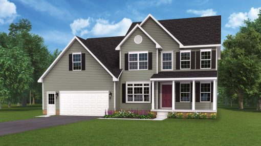 Arcadia model and floorplan by J.A. Myers Homes in Hanover, PA