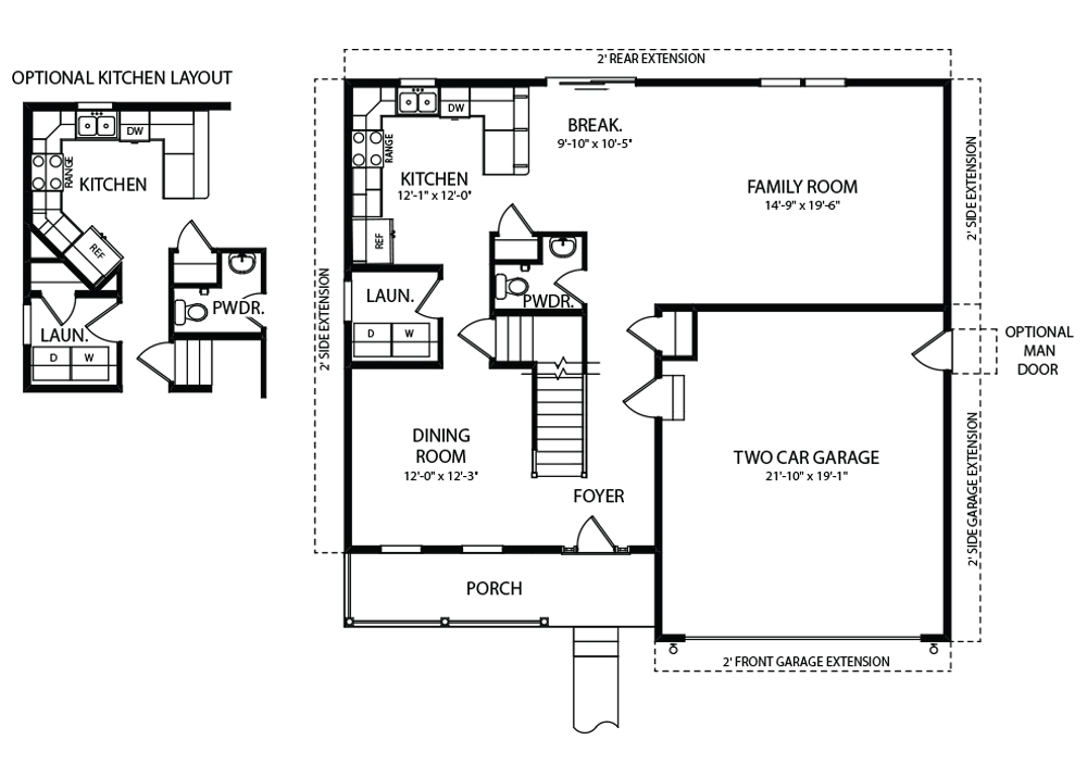 Bentridge Model Floorplan First Floor Plan by J.A. Myers Homes