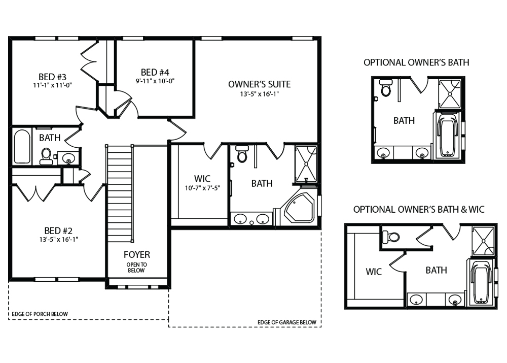 Bentridge Floorplan Second Floor Plan by J.A. Myers Homes